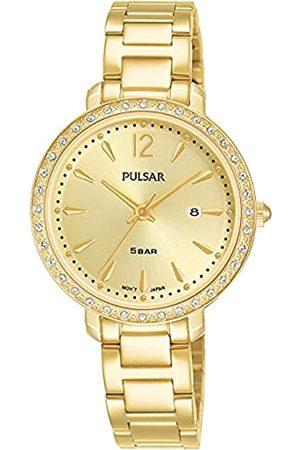 Pulsar Damen Uhren - Quarz Damen-Uhr Edelstahl mit Metallband PH7516X1