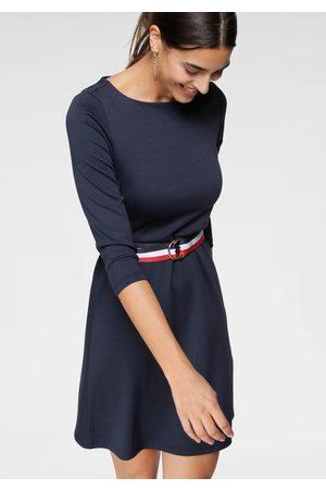 TOM TAILOR A-Linien-Kleid, (Set, mit abnehmbarem Gürtel), mit separatem Streifen-Gürtel