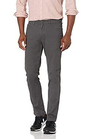 Goodthreads Amazon-Marke: Herrenhose, schmale Passform, 5-Pocket, mit komfortablem Stretch, Chino-Stil, Grey