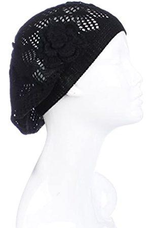 BSB Damen Hüte - Damen-Beanie-Mütze, gehäkelt, Blumenmuster, leicht, mit Cutout