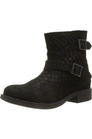 PIECES Damen IZA Suede Spring Boot Croc Black Schlupfstiefel