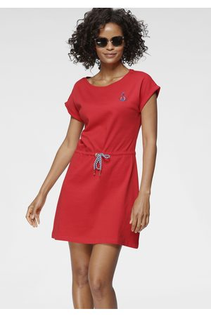 TOM TAILOR Sommerkleid, mit Tunnelzug und kontrastfarbendem Bindeband