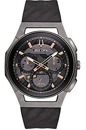 Bulova Herren Chronograph Quarz Uhr mit Gummi Armband 98A162