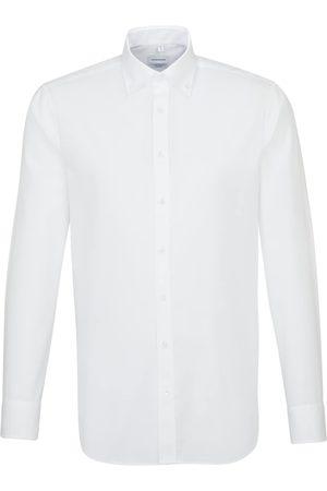 Seidensticker Businesshemd »Shaped«, Shaped Langarm Button-Down-Kragen Uni