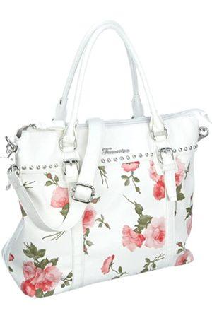 Fornarina Bags DOROTEA B603PS35, Damen, Shopper, Weiss (WHITE), 34,5x14x30