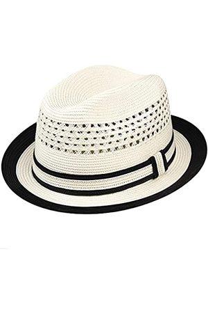 Country Gentleman Noah Herren Fedora-Hut mit zweifarbiger Krempe - - MEDIUM