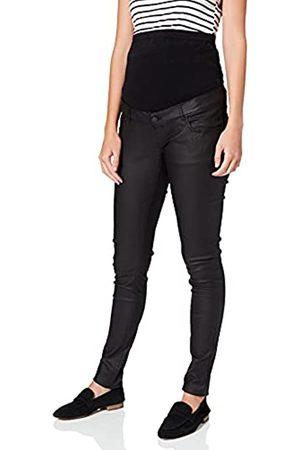 Mama Licious Damen MLSANTOS Slim Coated HIGH Back A. Jeans