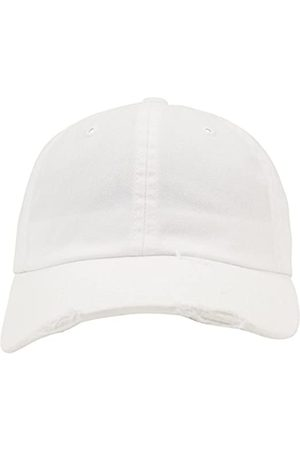 Flexfit Unisex Low Profile Destroyed Caps, White
