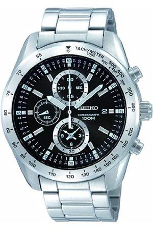 Seiko Herren-Armbanduhr XL Chronograph Chronograph Quarz Edelstahl SNDB53P1