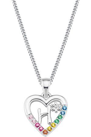Prinzessin Lillifee Damen Halsketten - Kette mit Anhänger »Herz/Buchstaben, 2027876«, mit Zirkonia