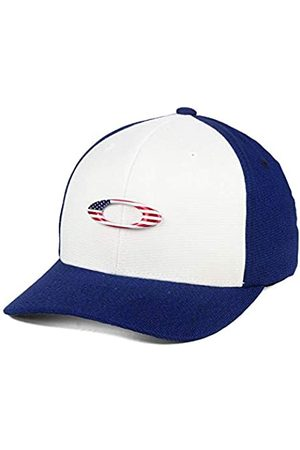 Oakley Tin Can USA Stretch-Fitted Cap Blue/White