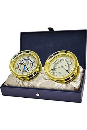 MASTER-MARINER Patriot Collection Nautische Windlass-Geschenkset, 14,9 cm Durchmesser, Uhrzeit und Gezeitenuhr und Komfortmessgerät-Finish