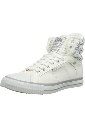 British Knights Atoll B33-3704 Damen Sneaker, (White/Silver 4)