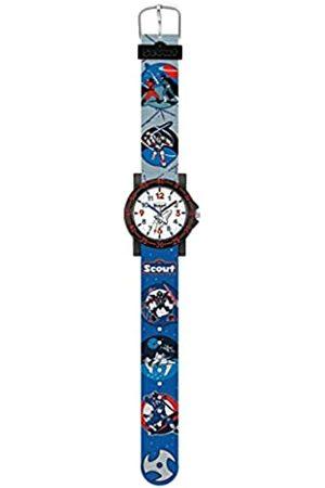 Scout Jungen Analog Quarz Uhr mit Textil Armband 280375026
