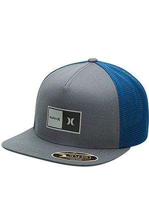 Hurley Men's Baseball Cap - Natural 2.0 Snap-Back Trucker Hat (Light Smoke Grey