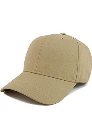 Armycrew XXL Oversize High Crown Adjustable Plain Solid Baseball Cap - Beige - Einheitsgröße