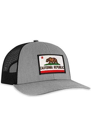 HAKA Herren Caps - California Flag Hat - California Republic Trucker Hat Baseball Cap Snapback Hat - - Einheitsgröße