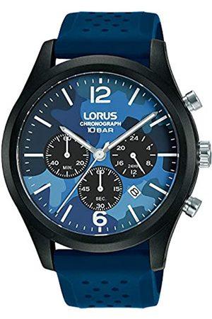Lorus Sport Herren-Uhr Chronograph Edelstahl und Kunststoff mit Silikonband RT301JX9