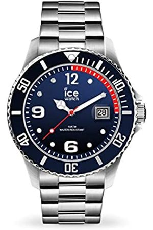 Ice-Watch ICE steel Marine silver - Blaue Herrenuhr mit Metallarmband - 015775 (Large)