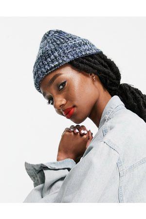 ASOS Damen Hüte - – Beanie aus gemischtem Grobstrick mit Umschlag in