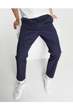 Polo Ralph Lauren – Prepster – Chinohose in Marineblau mit glatter Vorderseite, Markenlogo und Kordelzug
