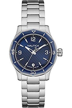 Nautica Damen Analog Quarz Uhr mit Edelstahl Armband 6.56086E+11