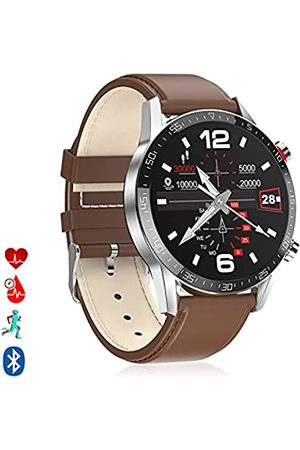 DAM Smartwatch L13 Armband aus PU-Leder, Multisport-Modus, Herzfrequenzmesser, Blutdruckmessgerät