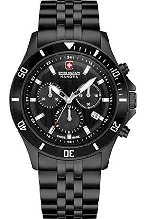 Swiss Military Hanowa Unisex Erwachsene Analog Quarz Uhr mit Edelstahl Armband 06-5331.13.007