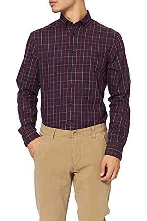 Seidensticker Herren Tailored Fit Langarm mit Button-Down-Kragen Bügelleicht Kariert-100% Baumwolle Businesshemd