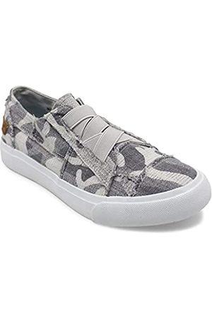 Blowfish Damen Marley Sneaker, Grau (Leinwandbild mit grauem Camouflage-Muster)