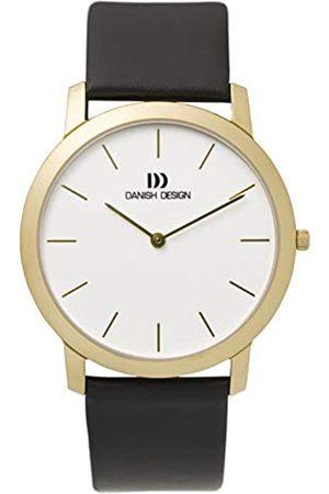 Danish Design Herren Analog Quarz Uhr mit Leder Armband IQ11Q807