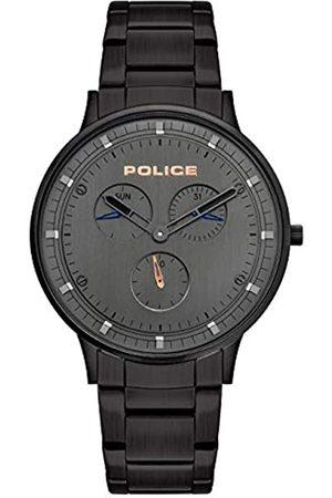 Police Unisex Erwachsene Analog Quarz Uhr mit Edelstahl Armband PL15968JSB.39M