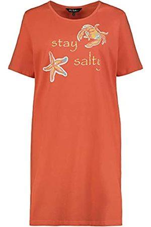 Ulla Popken Damen Longshirt, Stay Salty Nachthemd