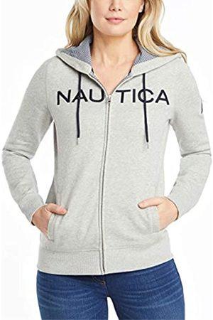 Nautica Damen Go-to Signature Cotton Full-Zip Logo Hoodie Kapuzenpullover