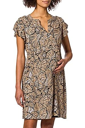 ESPRIT Maternity Damen Dress WVN Nursing ss AOP Kleid, Black Ink-003