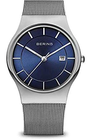 Bering Herren Analog Quarz Classic Collection Armbanduhr mit Edelstahl Armband und Saphirglas 11938-003