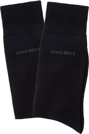 HUGO BOSS Socken »2P RS Uni«, (2 Paar), mit gerippten Bündchen