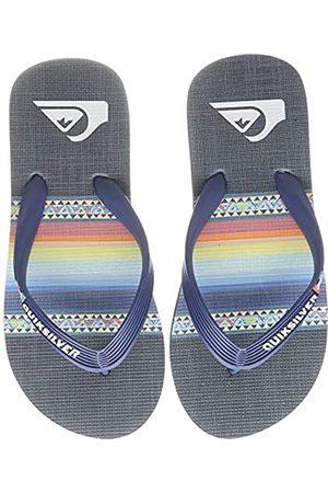 Quiksilver Molokai Art Youth Flip-Flop, Blue/Blue/Black