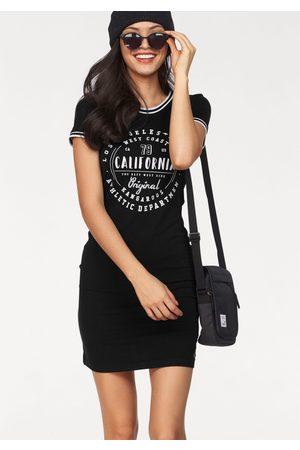 KangaROOS Jerseykleid, mit Glitzer-Print vorne