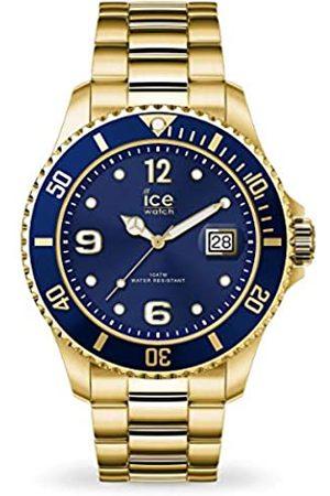 Ice-Watch ICE steel Gold blue - Gold Herrenuhr mit Metallarmband - 016762 (Large)