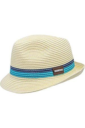 CHILLOUTS Herren Fort Myers Panama-Hut, 33 Cream/Blue