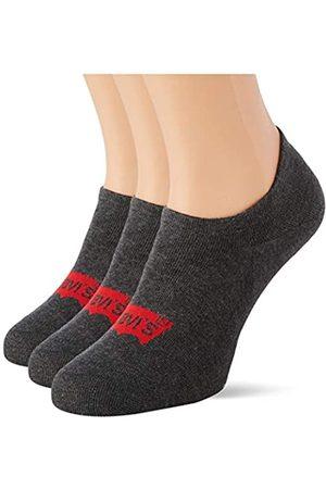 Levi's Unisex-Adult High Rise Batwing Logo (3 Pack) Socks, anthracite melange/black