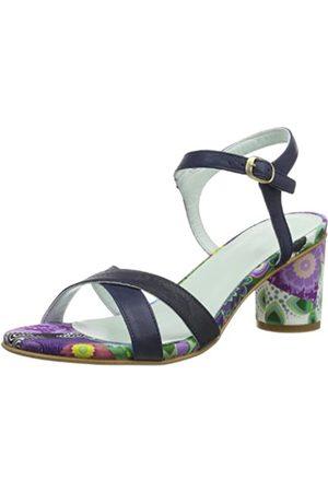 Desigual Sandalia Tacon Medio 1 41SS2693125, Damen Sandalen/Fashion-Sandalen, Türkis (Flox)