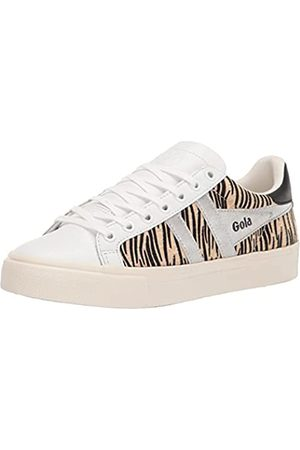 Gola Damen Orchid II Africa Sneaker, White/Zebra/Silver