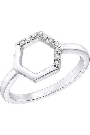 s.Oliver Fingerring »Hexagon, 2031424 / -25 / -26 / -27«, mit Zirkonia (synth.)