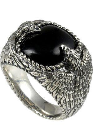 Baldessarini Silberring »Adler, Y2045R/90/E3«, mit Obsidian