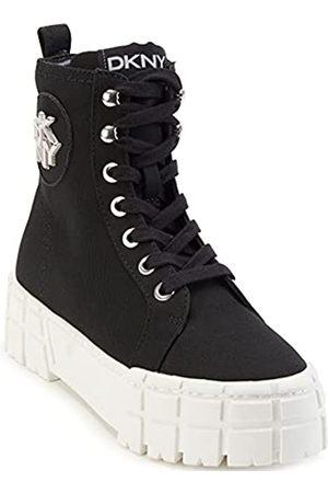 DKNY Women's Bootie Combat Boot, Black