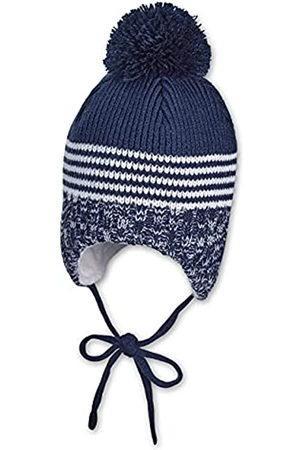 Sterntaler Jungen Hüte - Mütze für Jungen mit Bommel und Strickmustern, Gefüttert mit Baumwoll-Fleece, Alter: 3-4 Monate, Größe: 39