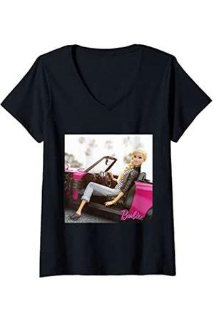 Barbie Damen Cabrio Lifestyle T-Shirt mit V-Ausschnitt