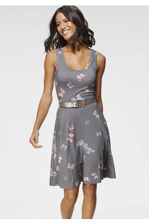 Laura Scott Jerseykleid, mit weit schwingendem Saum